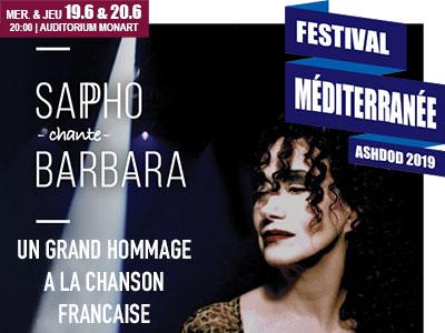 Festival mediterranee-Sapho chante barbara